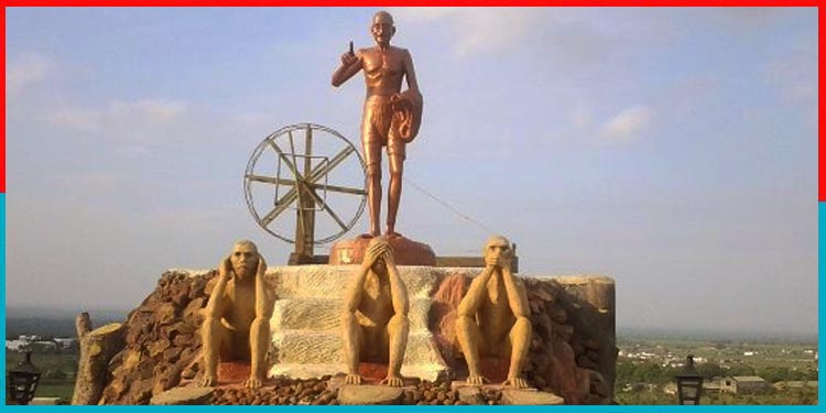 Three monkeys of Gandhi
