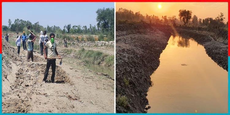 लॉकडाउन में अपने गांव लौटे मजदूरों ने बदली नदी की काया